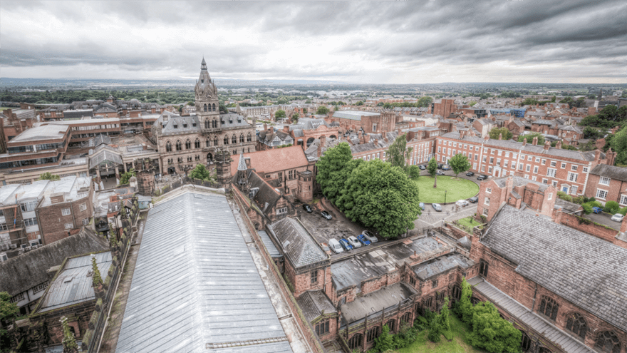 Panoramic Views from Chester Cathedral
